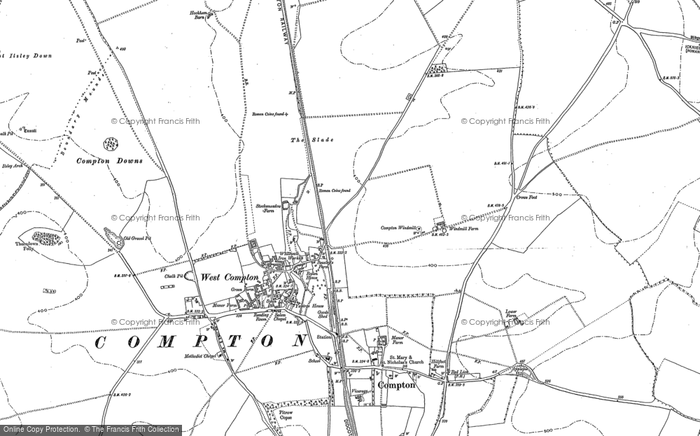 Old Map of Historic Map covering Agricultural Research Council's Field Station in 1898