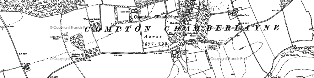 Old map of Compton Chamberlayne in 1899