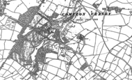 Old Map of Compton Verney, 1885