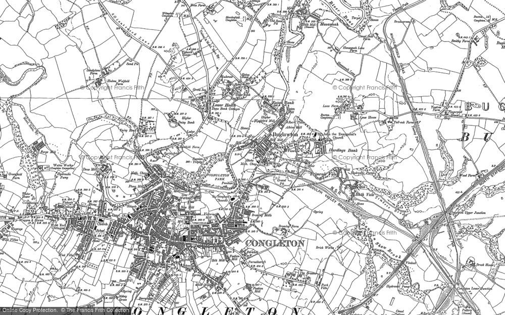 Old Map of Congleton, 1897 - 1908 in 1897