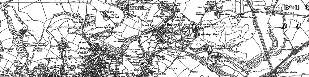 Old map of Hightown in 1897