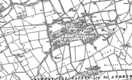 Old Map of Conington, 1887