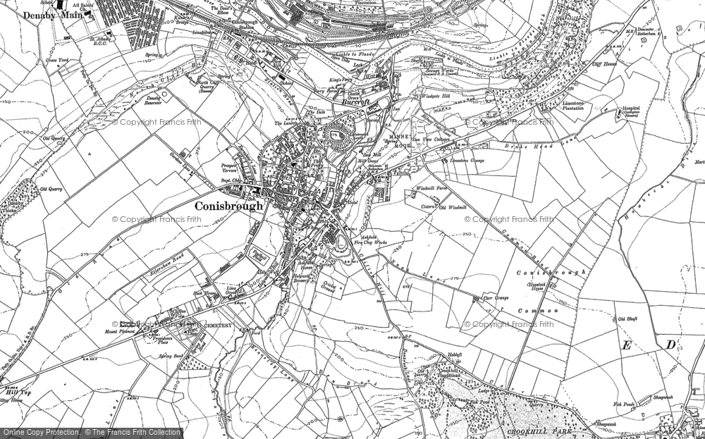 Old Map of Conisbrough, 1890 - 1901 in 1890