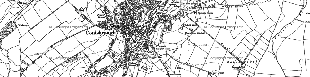 Old map of Conisbrough in 1890