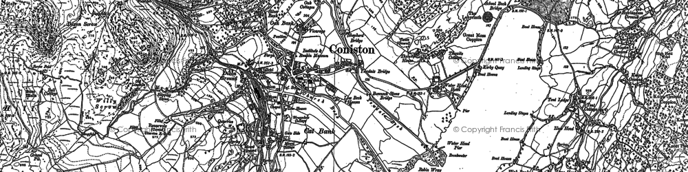 Old map of Above Beck Fells in 1912
