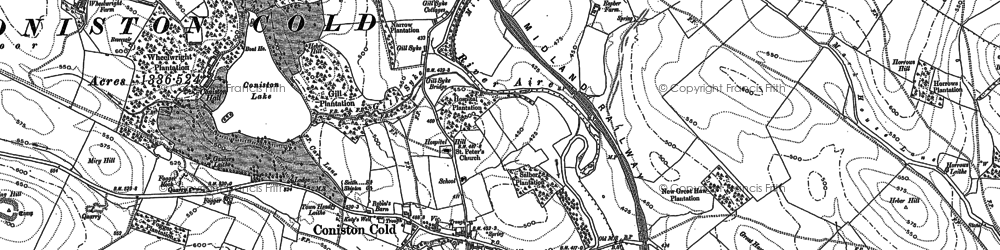 Old map of Winterley Cobba in 1893