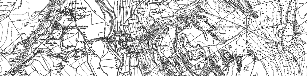 Old map of Conistone in 1907