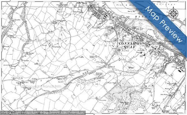 Historic map of Bryn Saer