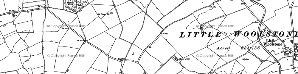 Old map of Conniburrow in 1898