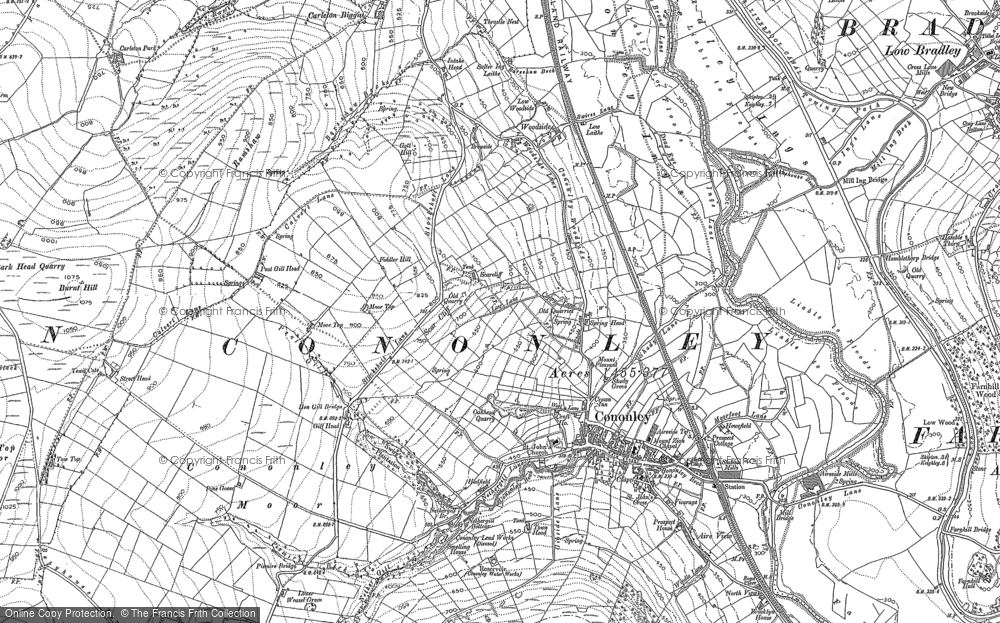Old Map of Cononley, 1889 - 1907 in 1889