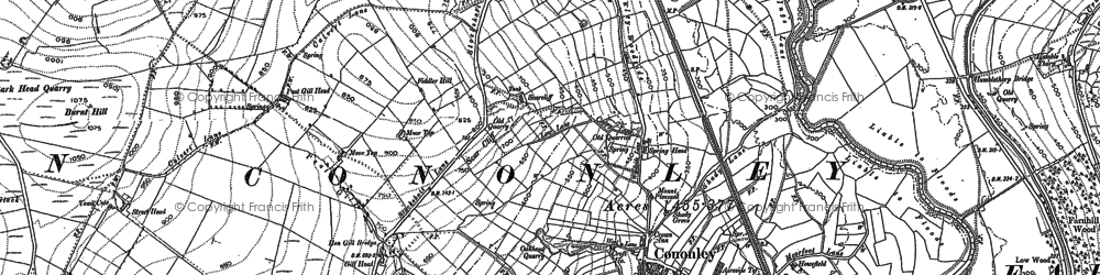 Old map of Cononley in 1889