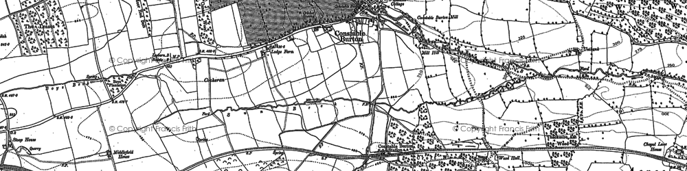 Old map of Wood Hall in 1891
