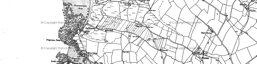 Old map of Constantine Bay in 1880
