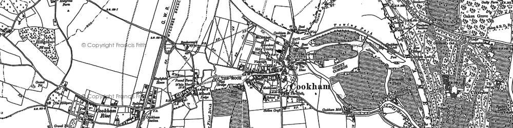 Old map of Widbrook Common in 1910