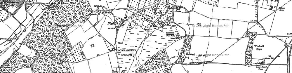 Old map of Bigfrith in 1910