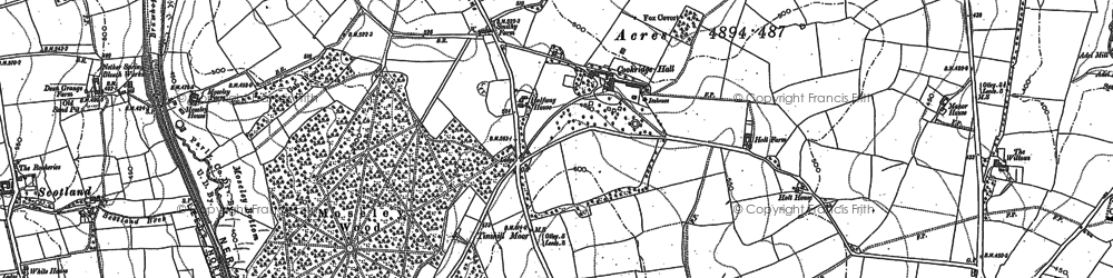 Old map of Tinshill in 1891