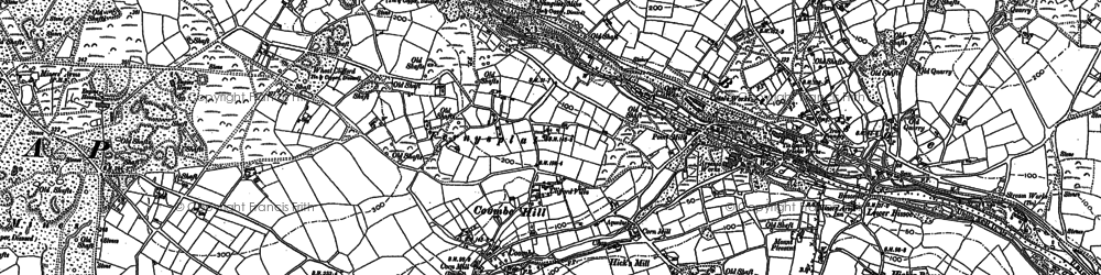 Old map of Greenwith Common in 1878