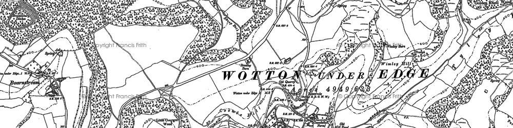 Old map of Westridge Wood in 1881
