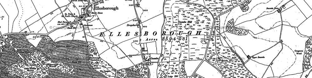 Old map of Chalkshire in 1897