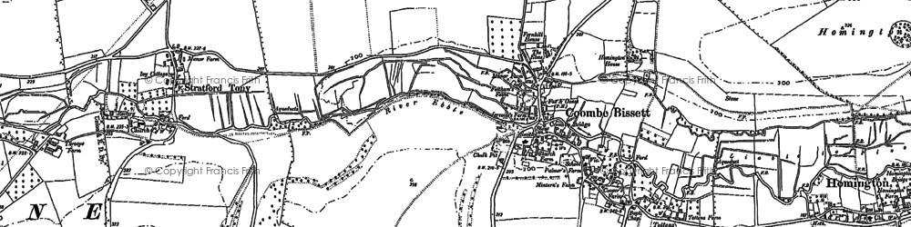 Old map of Coombe Bissett in 1900
