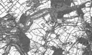 Old Map of Coombe Dingle, 1901