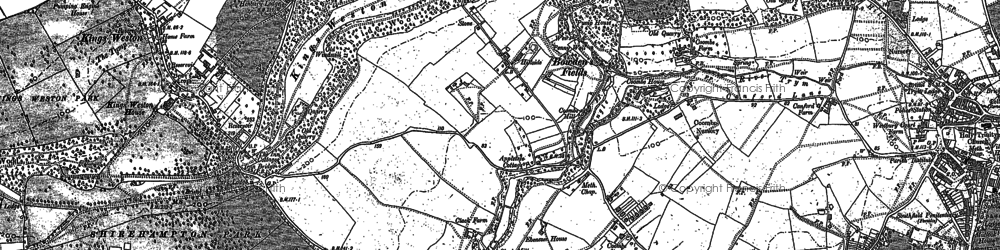 Old map of Blaise Hamlet in 1901