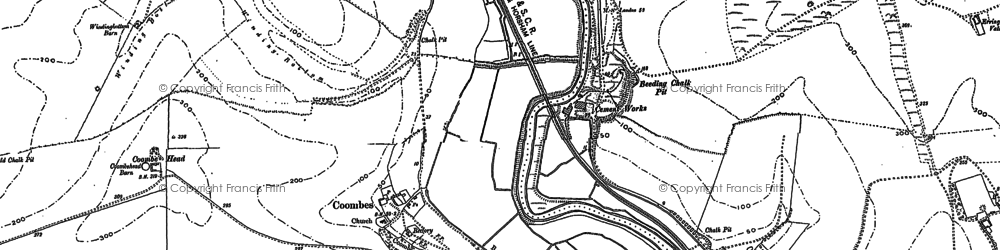 Old map of Winding Bottom in 1875