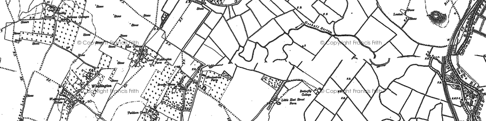 Old map of Ash Level in 1896