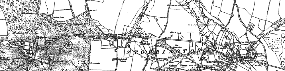 Old map of Wiggonholt in 1896