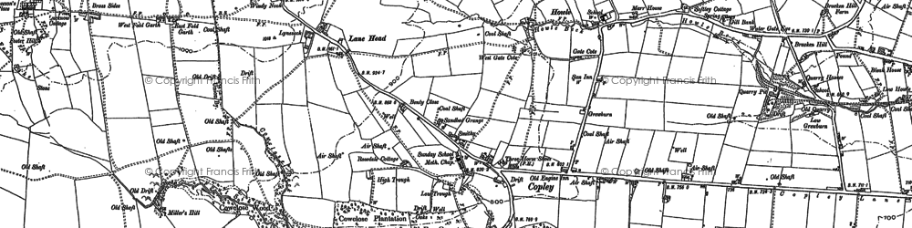 Old map of Wheatley Wood in 1896