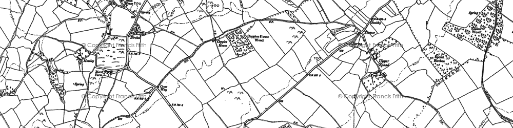 Old map of Woodbrook in 1885