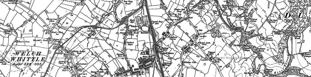 Old map of Langtree Old Hall in 1892