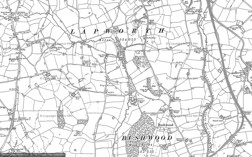 Old Map of Historic Map covering Lapworth Park in 1886