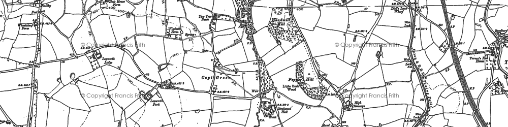 Old map of Lapworth Park in 1886