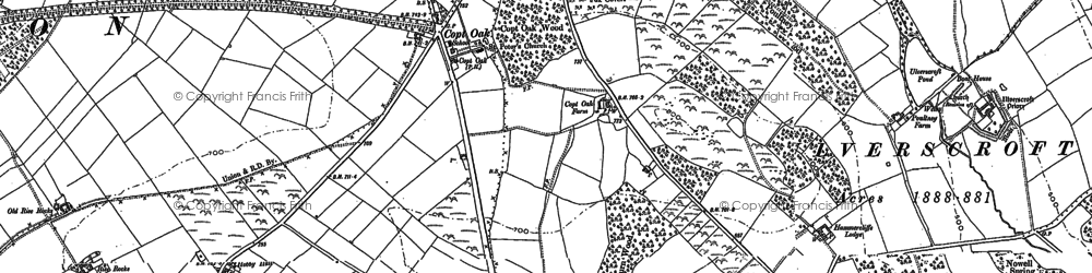 Old map of Lea Wood in 1883