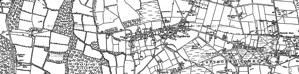 Old map of Copthorne Bank in 1910