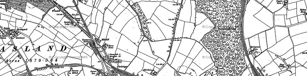 Old map of Winsick in 1877