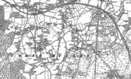 Old Map of Corfe Mullen, 1887