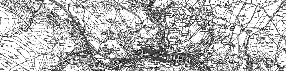 Old map of Cornholme in 1892