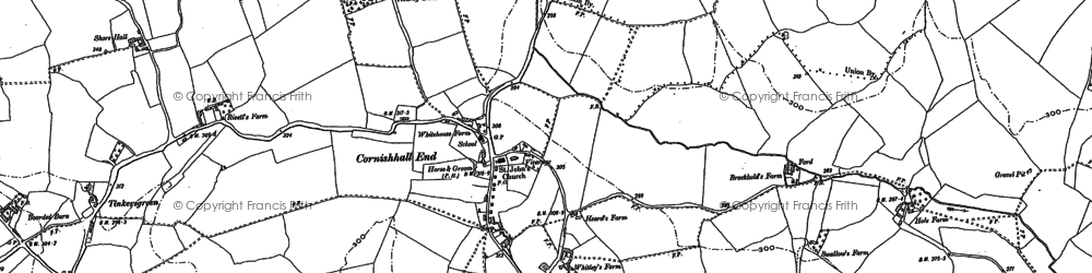 Old map of Tinkers Green in 1896