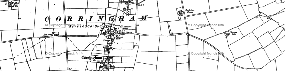 Old map of Aisby in 1885