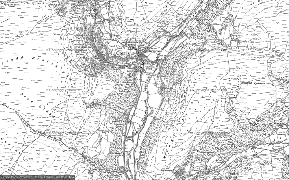 Old Map of Corris, 1900 in 1900