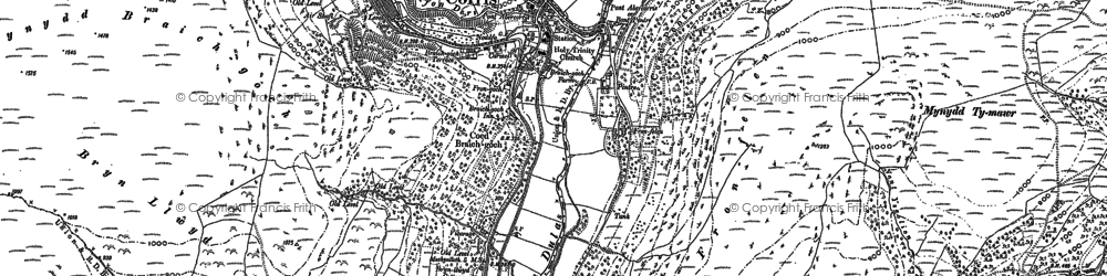 Old map of Corris in 1900