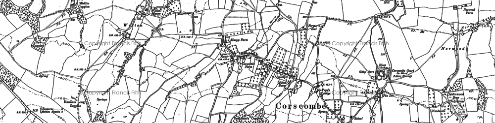 Old map of Woodwalls in 1887