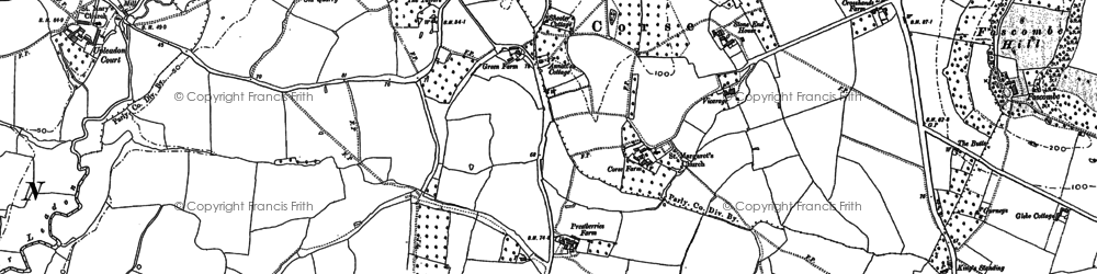 Old map of Corse in 1882
