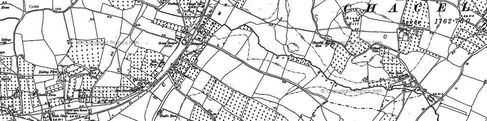 Old map of Tirley Knowle in 1883