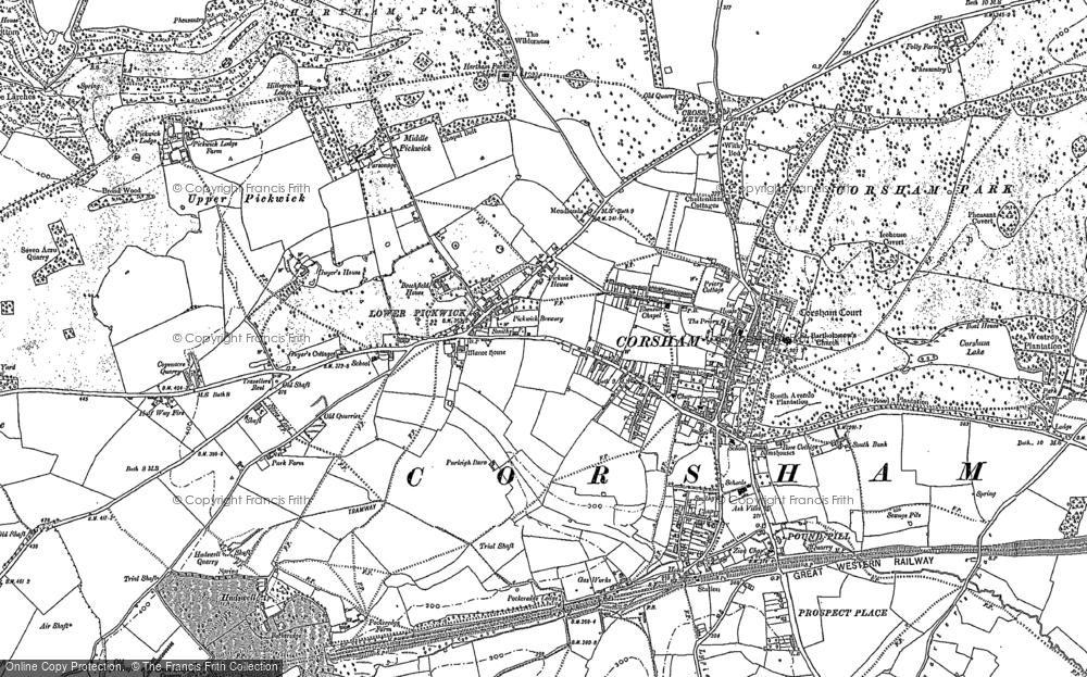 Map of Corsham, 1919