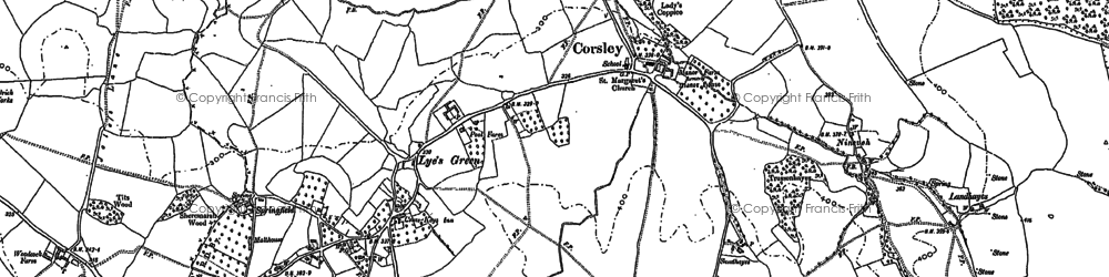 Old map of Whitbourne Moor in 1922