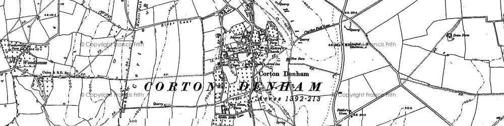 Old map of Wheat Sheaf Hill in 1885