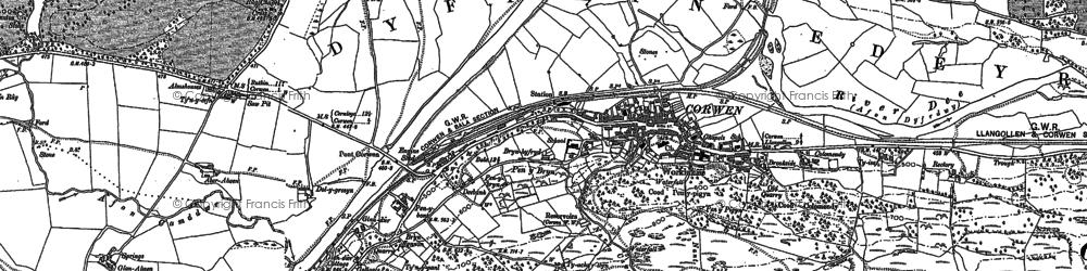 Old map of Wylfa in 1886